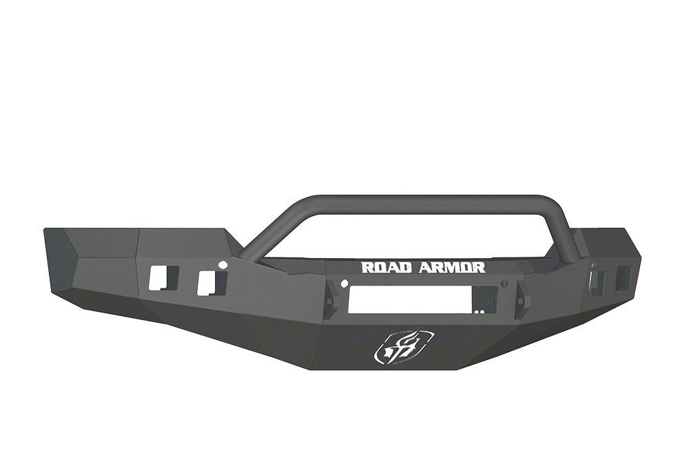 Road Armor Stealth Non-Winch Front Bumper w/ Pre-Runner Guard - Satin Black (16-18 Silverado 1500)