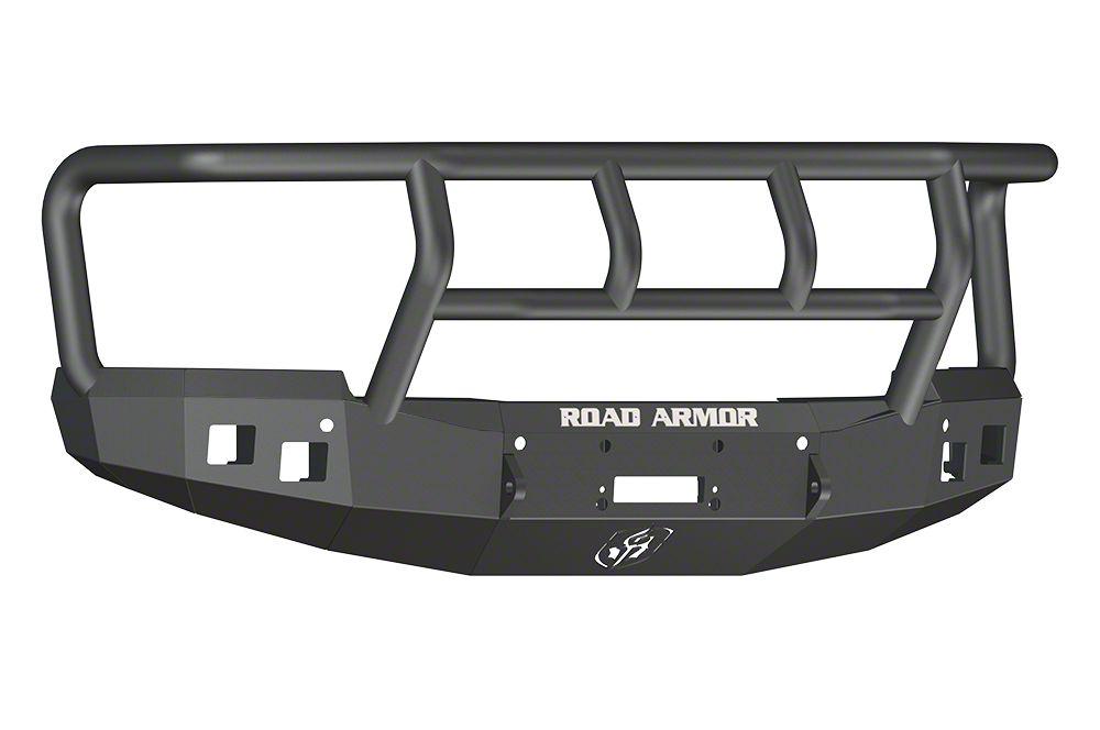 Road Armor Stealth Winch Front Bumper w/ Titan II Guard - Satin Black (14-15 Silverado 1500)