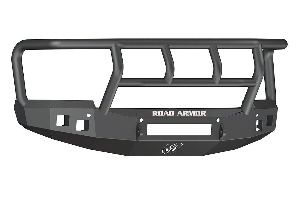 Road Armor Stealth Non-Winch Front Bumper w/ Titan II Guard - Satin Black (14-15 Silverado 1500)