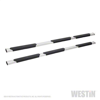 Westin R5 Wheel-to-Wheel Nerf Side Step Bars - Stainless Steel (14-18 Silverado 1500 Crew Cab w/ Short Box)