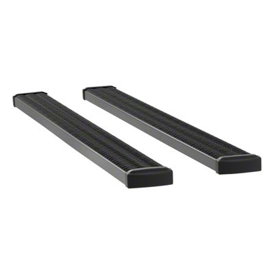 Luverne Grip Step 7 in. Rocker Mount Running Boards - Textured Black (07-13 Silverado 1500 Extended Cab)