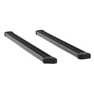Luverne SlimGrip 5 in. Running Boards - Textured Black (07-18 Silverado 1500 Extended/Double Cab)