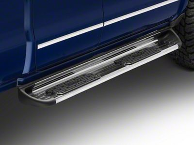 Luverne Stainless Side Entry Rocker Mount Running Boards - Polished (14-18 Silverado 1500 Double Cab)