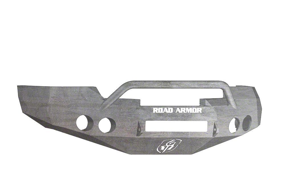 Road Armor Stealth Non-Winch Front Bumper w/ Pre-Runner Guard - Raw (07-13 Silverado 1500)