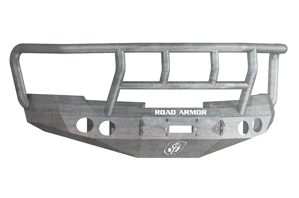 Road Armor Stealth Winch Front Bumper w/ Titan II Guard - Raw (07-13 Silverado 1500)