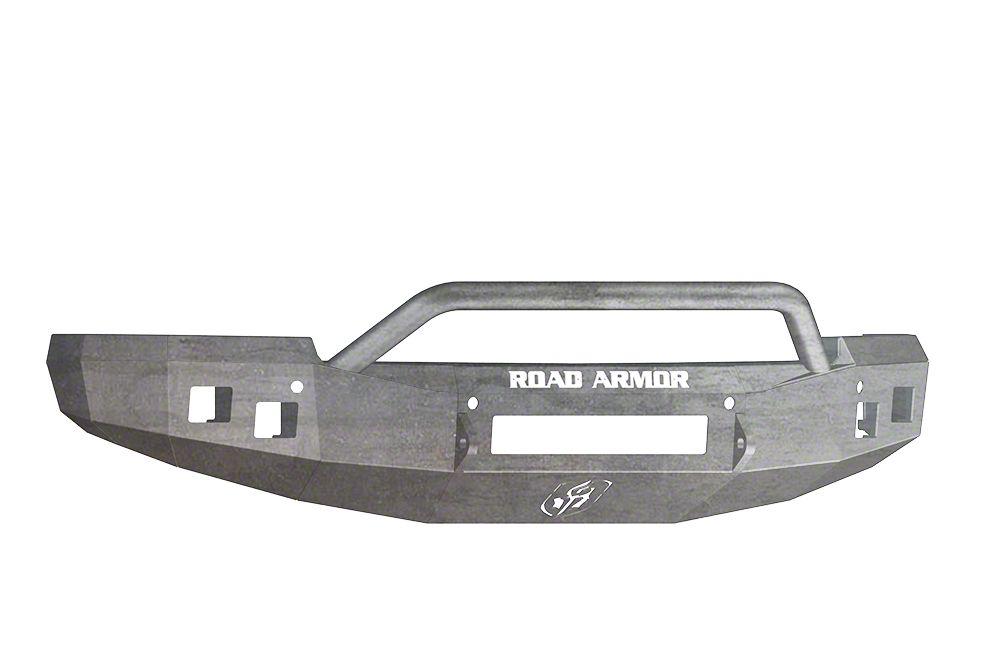 Road Armor Stealth Non-Winch Front Bumper w/ Pre-Runner Guard - Raw (14-15 Silverado 1500)