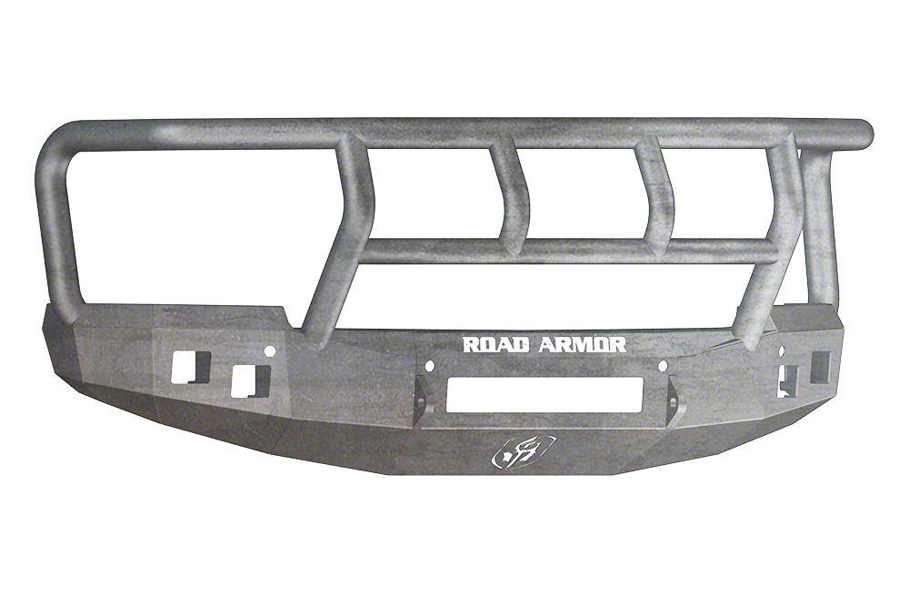 Road Armor Stealth Non-Winch Front Bumper w/ Titan II Guard - Raw (14-15 Silverado 1500)