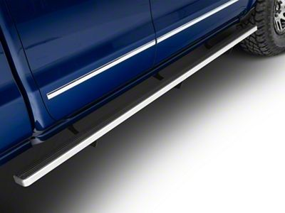 4 in. iStep Running Boards - Hairline Silver (07-18 Silverado 1500 Crew Cab)