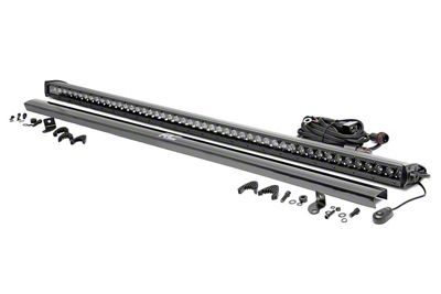 Rough Country 50 in. Black Series Single Row LED Light Bar - Spot Beam