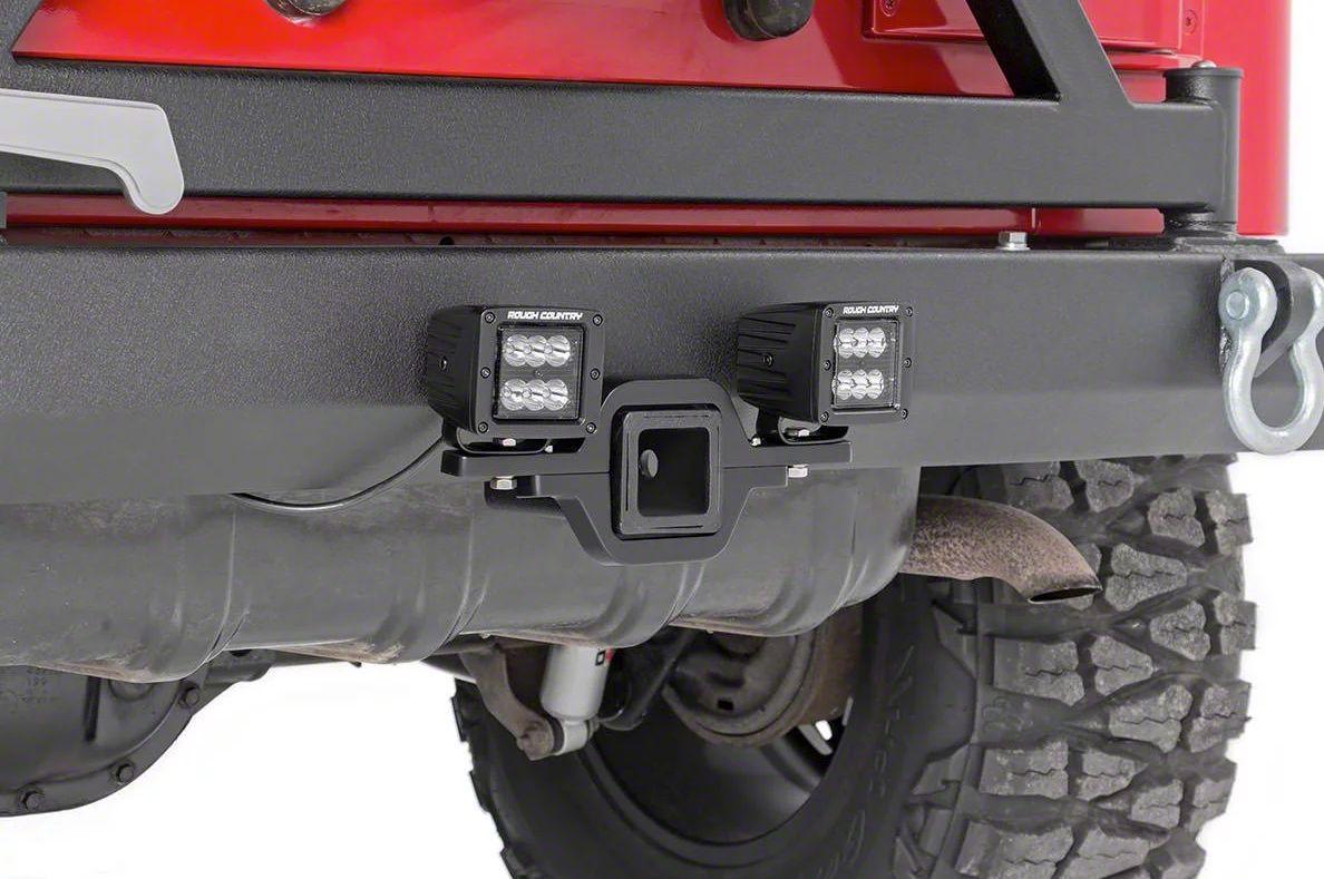 Rough Country Hitch Mount Black Series LED Light Kit - Spot Beam (99-19 Silverado 1500)