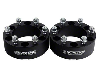 Supreme Suspensions 2 in. Pro Billet Wheel Spacers - Set of Two (99-19 Silverado 1500)