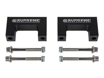 Supreme Suspensions 2 in. Pro Billet Front Shock Lift Spacers (99-06 4WD Silverado 1500)
