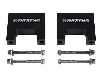Supreme Suspensions 3 in. Pro Billet Front Shock Lift Spacers (99-06 4WD Silverado 1500)
