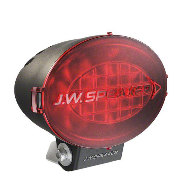 J.W. Speaker 7.5 in. Model TS3001V Oval LED Light Lens Cover - Red