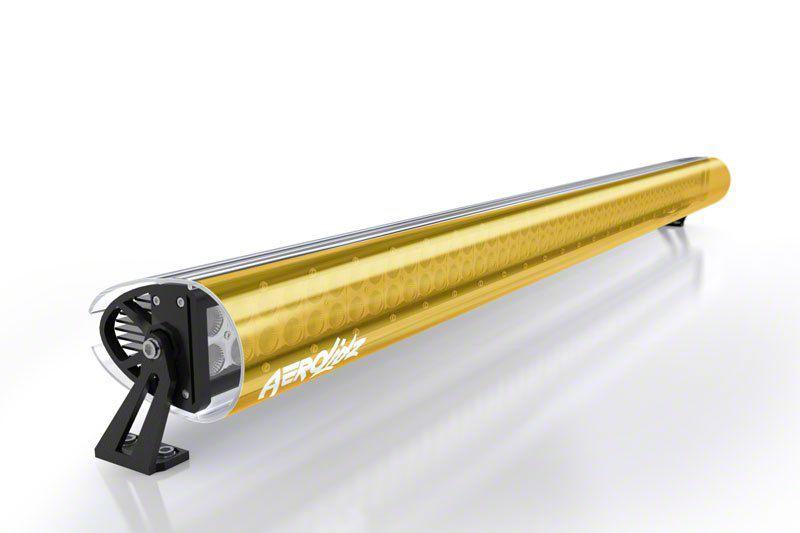 AeroX 32 in. LED Light Bar Cover Transparent Insert - Amber