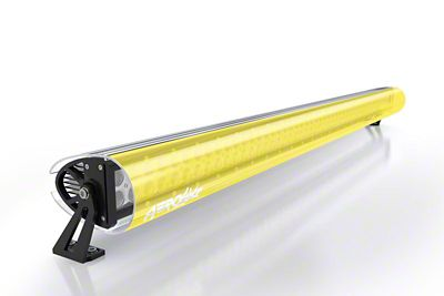 AeroX 32 in. LED Light Bar Cover Transparent Insert - Yellow