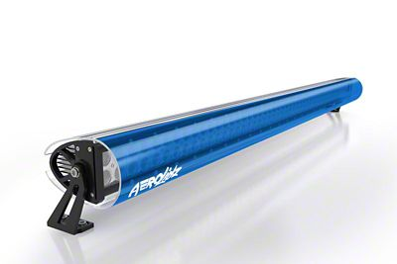 AeroX 52 in. LED Light Bar Cover Transparent Insert - Blue