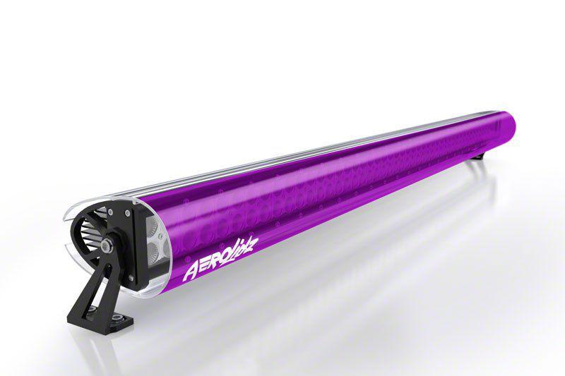 AeroX 52 in. LED Light Bar Cover Transparent Insert - Black Light Purple