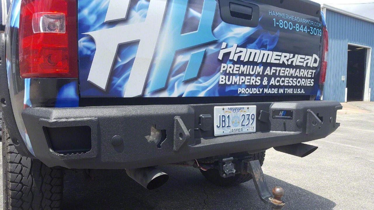 Rear Bumper w/ Texas Edition LED Cube Cutouts (07-13 Silverado 1500)