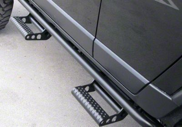 N-Fab Cab Length RKR Side Rails w/ Detachable Steps - Textured Black (2019 Silverado 1500 Crew Cab)