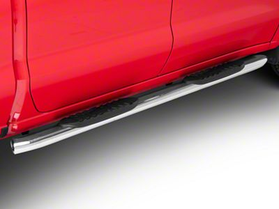 Duratrek 5 in. Oval Bent End Side Step Bars - Stainless Steel (2019 Silverado 1500 Crew Cab)