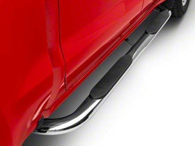Duratrek 4 in. Oval Bent End Side Step Bars - Stainless Steel (2019 Silverado 1500 Crew Cab)