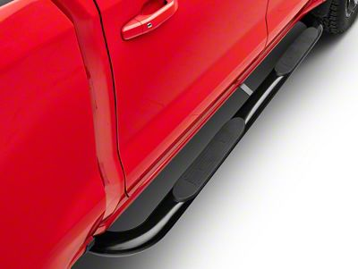 Duratrek 4 in. Oval Bent End Side Step Bars - Black (2019 Silverado 1500 Crew Cab)