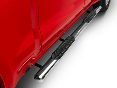 Duratrek 4 in. Oval Straight End Side Step Bars - Stainless Steel (2019 Silverado 1500 Crew Cab)