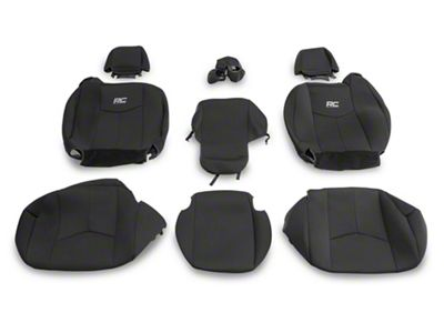 Rough Country Neoprene Front Seat Covers - Black (99-06 Silverado 1500 Regular Cab, Extended Cab)