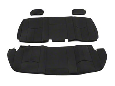 Rough Country Neoprene Rear Seat Covers - Black (99-06 Silverado 1500 Extended Cab)