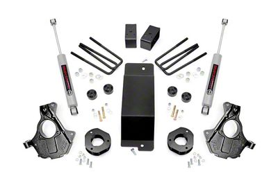Rough Country 3.5 in. Suspension Knuckle Lift Kit w/ Performance N2.0 Struts (14-18 4WD Silverado 1500 w/ Cast Steel Control Arms)