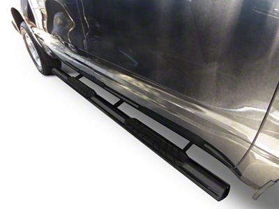 Duratrek 4 in. Oval Straight End Side Step Bars - Black (2019 Silverado 1500 Double Cab)