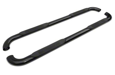 Duratrek 4 in. Oval Bent End Side Step Bars - Black (2019 Silverado 1500 Double Cab)