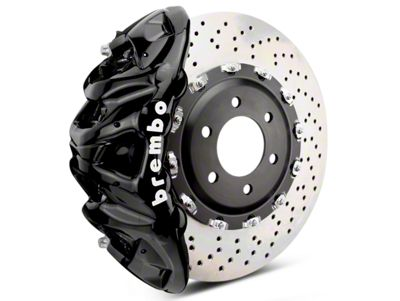 Brembo GT Series 8-Piston Front Brake Kit - 2-Piece Cross Drilled Rotors - Black (07-18 Sierra 1500)