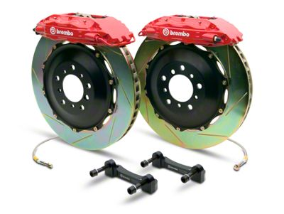 Brembo GT Series 4-Piston Rear Brake Kit - 2-Piece Slotted Rotors - Red (07-13 Sierra 1500)