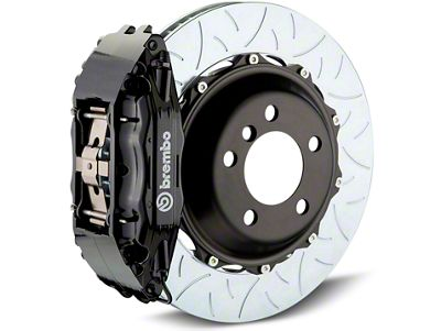 Brembo GT Series 4-Piston Rear Brake Kit - Type 3 Slotted Rotors - Black (07-13 Sierra 1500)