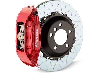 Brembo GT Series 4-Piston Rear Brake Kit - Type 3 Slotted Rotors - Red (07-13 Sierra 1500)