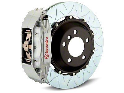 Brembo GT Series 4-Piston Rear Brake Kit - Type 3 Slotted Rotors - Silver (07-13 Sierra 1500)