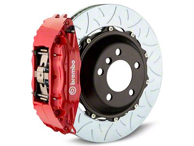 Brembo GT Series 4-Piston Rear Brake Kit - Type 3 Slotted Rotors - Red (14-18 Sierra 1500)