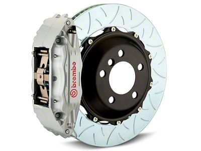 Brembo GT Series 4-Piston Rear Brake Kit - Type 3 Slotted Rotors - Silver (14-18 Sierra 1500)
