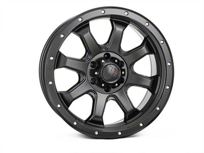Havok Off-Road H105 Matte Black 6-Lug Wheel - 20x9 (07-18 Sierra 1500)