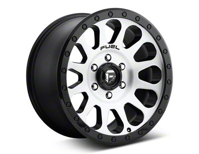 Fuel Wheels Vector Brushed w/ Black Ring 6-Lug Wheel - 17x8.5 (07-18 Sierra 1500)