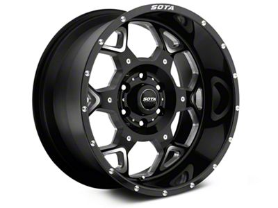 SOTA Off Road SKUL Death Metal 6-Lug Wheel - 20x9 (07-18 Sierra 1500)
