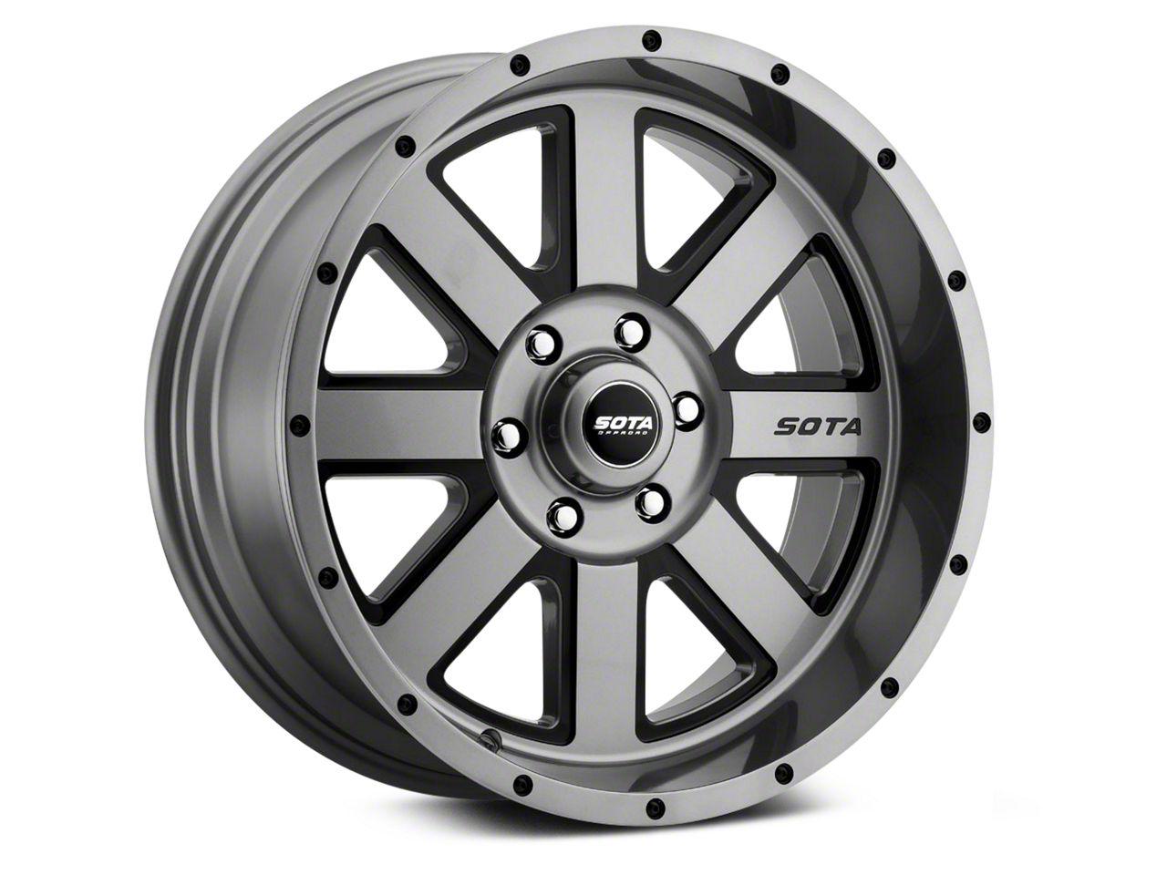 SOTA Off Road AWOL Anthra-Kote Black 6-Lug Wheel - 22x12 (07-18 Sierra 1500)