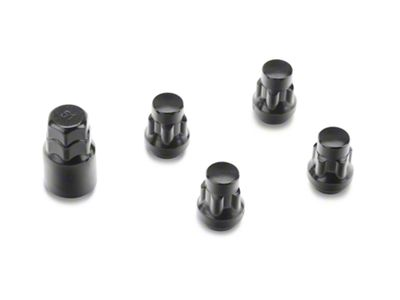 Coyote Locks with Key for Black Acorn Lug Nuts - 14mm x 1.50 in. (07-18 Sierra 1500)