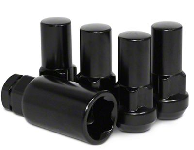 Coyote XL Locks with Key for Black Acorn Lug Nuts - 14mm x 1.5 (07-19 Sierra 1500)