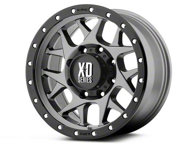 XD Bully Matte Gray w/ Black Ring 6-Lug Wheel - 20x9 (07-18 Sierra 1500)