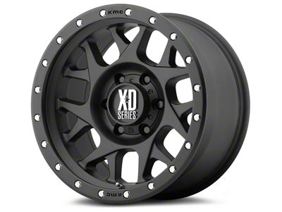 XD Bully Satin Black 6-Lug Wheel - 17x9 (07-18 Sierra 1500)