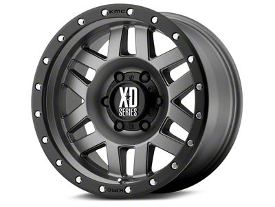 XD Machete Matte Gray w/ Black Ring 6-Lug Wheel - 20x10 (07-18 Sierra 1500)