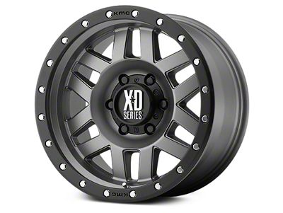 XD Machete Matte Gray w/ Black Ring 6-Lug Wheel - 17x9 (07-18 Sierra 1500)